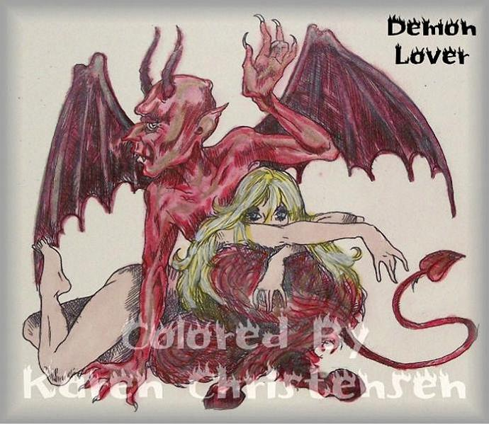 Demon Lover digi stamp