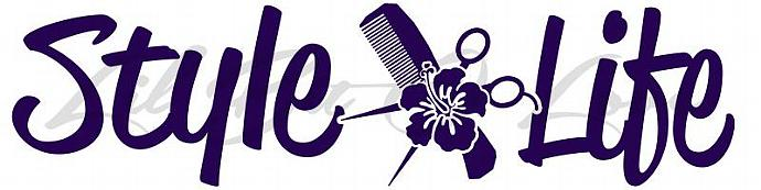 Style Life with Comb Scissors Hibiscus Vinyl Decal with Sticker Vehicle Auto