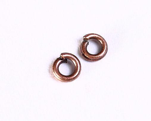3mm antique copper jumpring round - 50 pieces (1049)