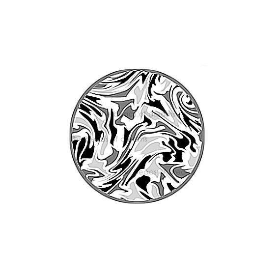 12mm abstract mirror images in grey black and white - Digital collage sheet -
