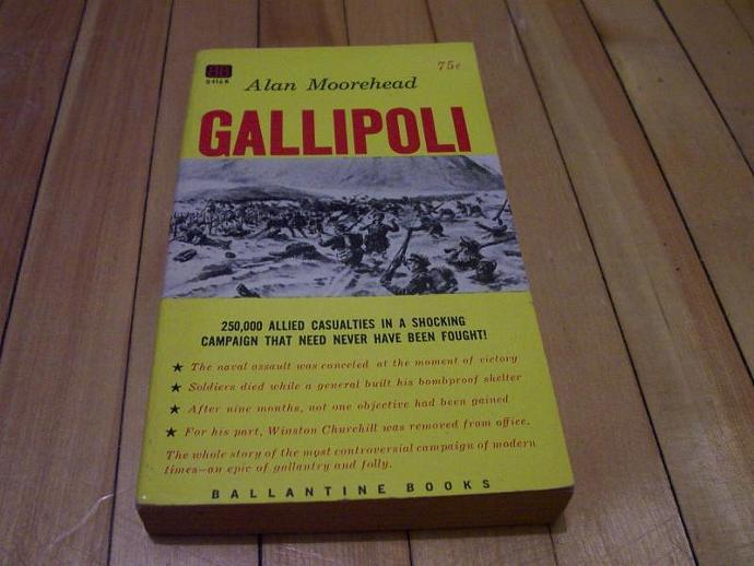 Gallipoli 1956 Paperback Book By Alan Moorehead WWI World War One Ballantine pb