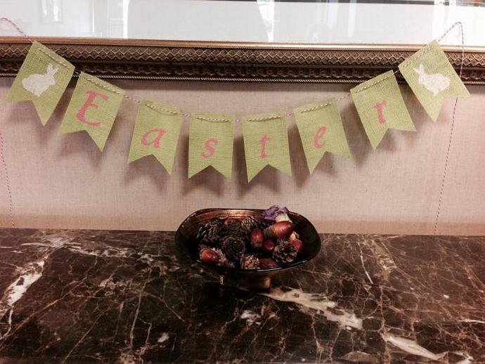 Easter Burlap Banner / Garland