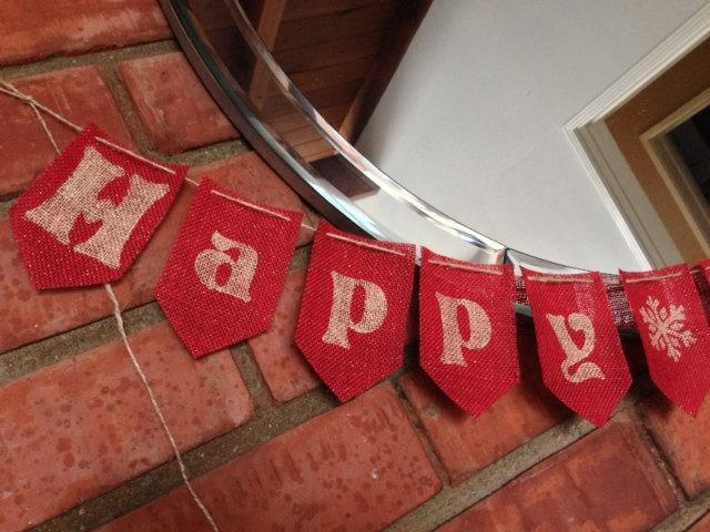 Happy Holidays Banner / Garland