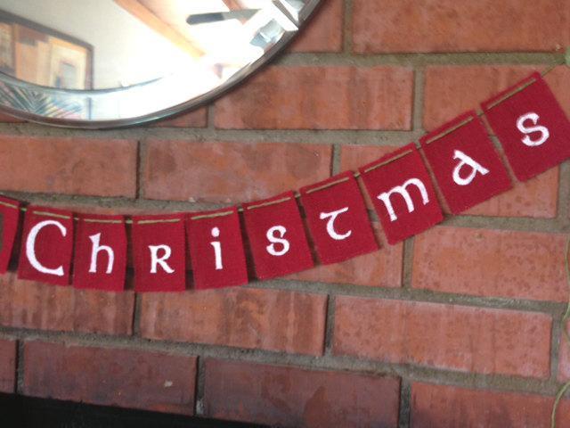 Merry Christmas Banner / Garland