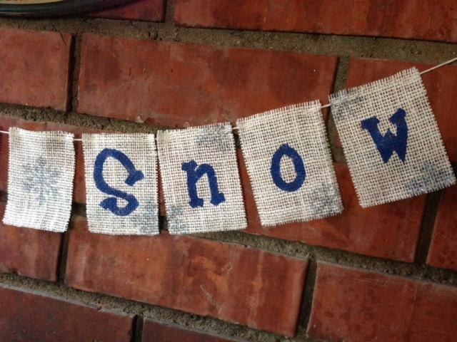 Let It Snow Snowflake Banner / Garland