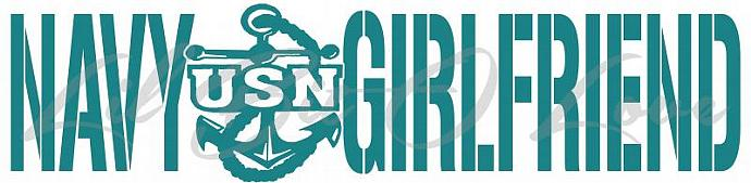 US Navy Girlfriend Vinyl Decal  USN with Anchor Emblem United States Navy