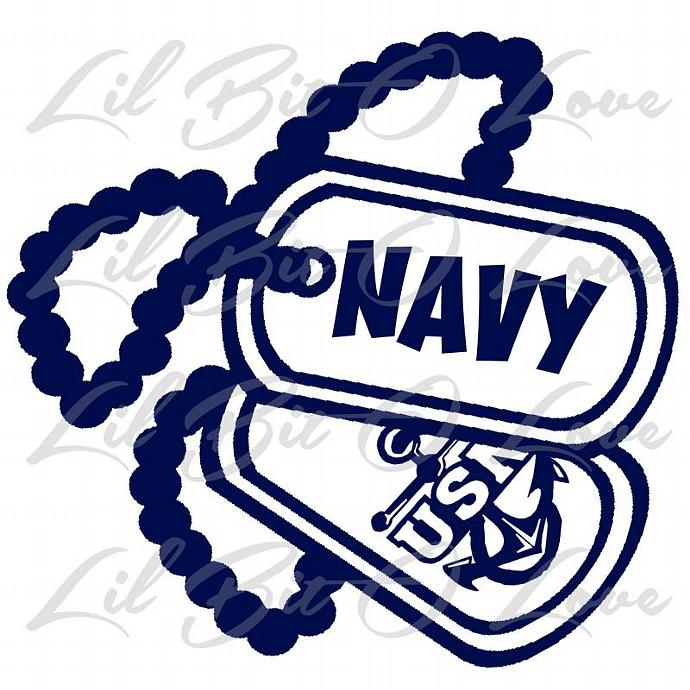 us navy usn dog tags with anchor vinyl decal by lilbitolove on zibbet