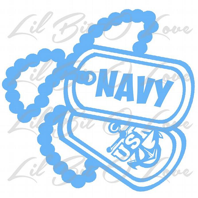 US NAVY USN Dog Tags with Anchor Vinyl Decal NAVY United States Navy Sticker