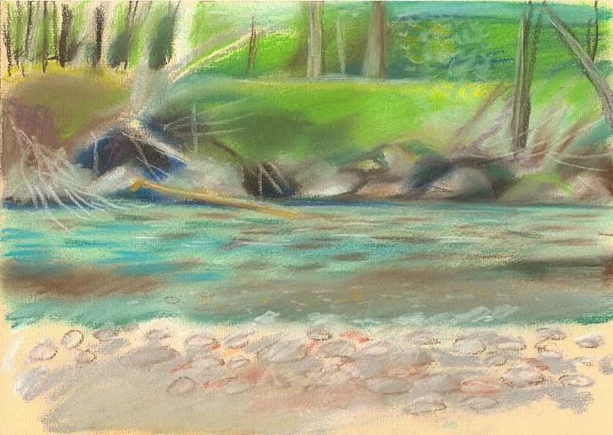 """Original work """"The Isar River"""" 2013"""