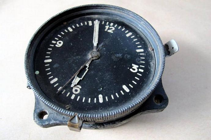 WWII Luftwaffe Airplane Clock / German Schlenker-Grusen Clock Blindfluguhr FL.