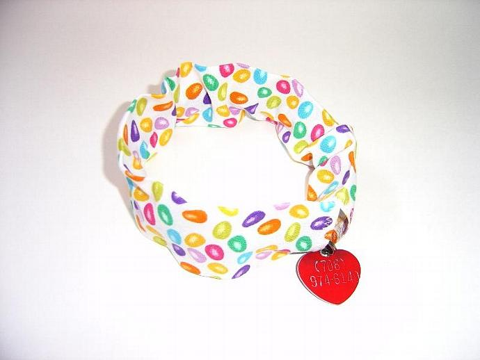 Easter Jellybeans Dog Collar Slipcover, a bandana alternative