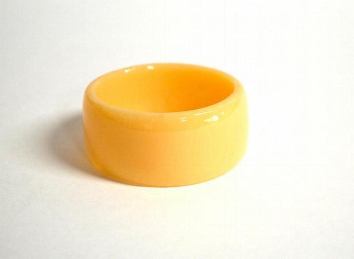 chunky bangle yellow handmade resin bangle
