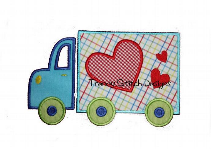 Semi HEART Applique Machine Embroidery Design