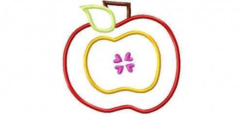 Apple 6 Applique Design Machine Embroidery Design Back to School INSTANT