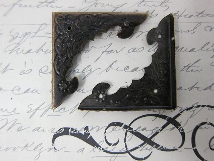 10pcs Metal Angle Corner - Bronze