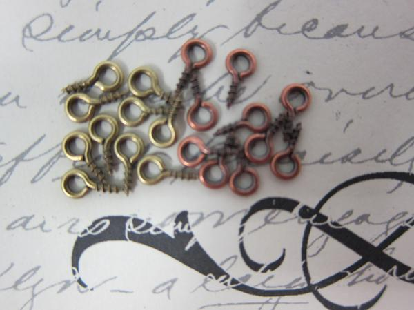 20pc Metal Eye Screw -  Bronze/Copper