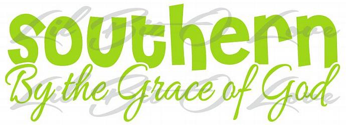 Southern by the Grace of God Vinyl Decal Belle Southern Girl Sticker