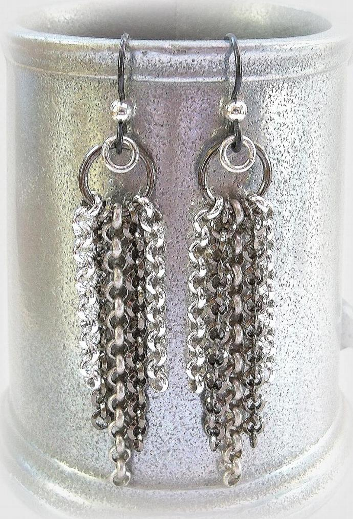 Chain Earrings Metal Mania