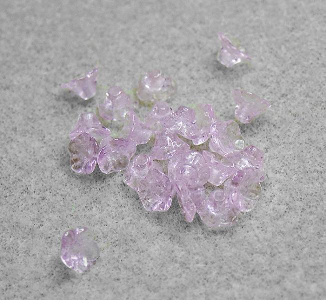 Preciosa True Rose Flower Cups- premium Czech glass beads