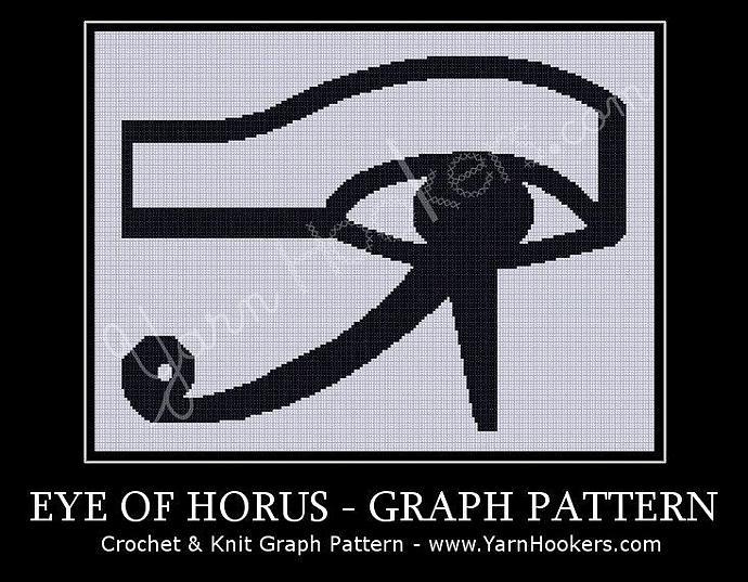 Egyptian Eye Of Horus Afghan Crochet Graph Yarnhookers