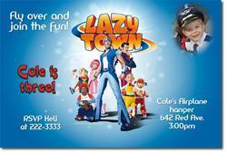 Lazy Town Birthday Invitations (Download JPG IMMEDIATELY)