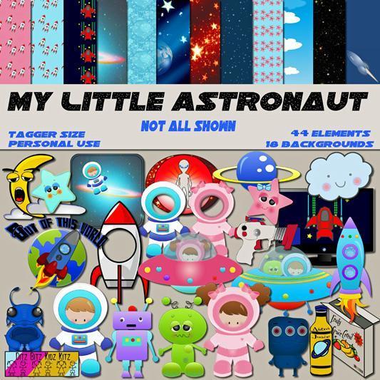 f8e13acb210fe My Little Astronaut Digital Scrapbook Kit