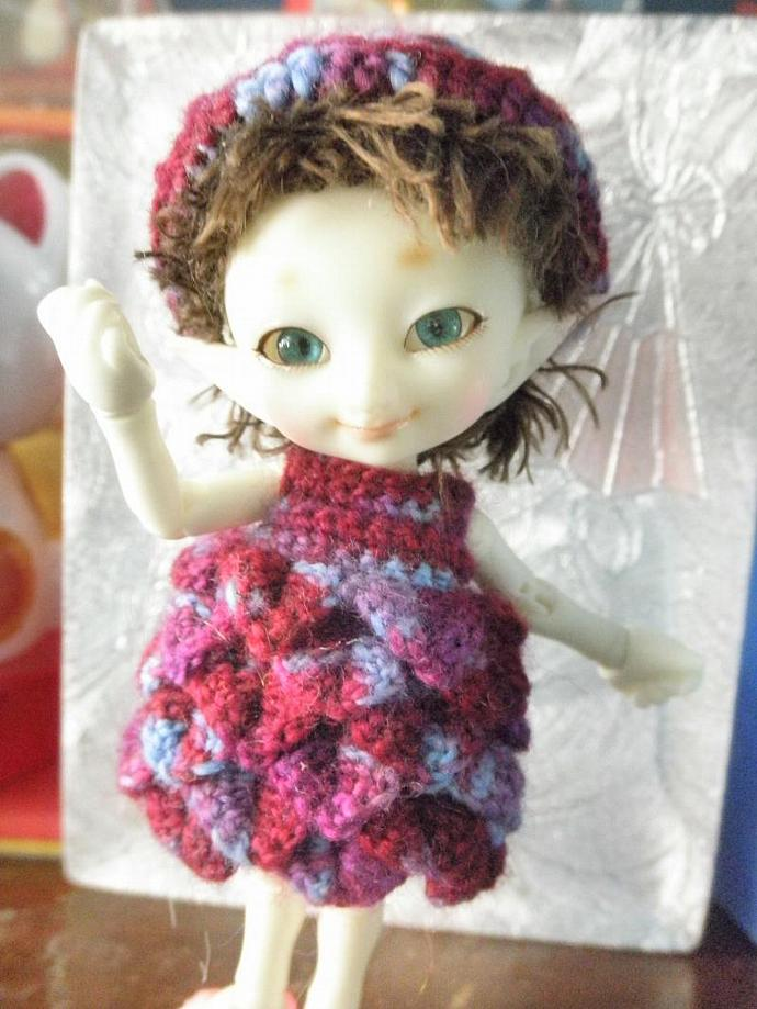 Real Puki Berry Colored Dress & hat