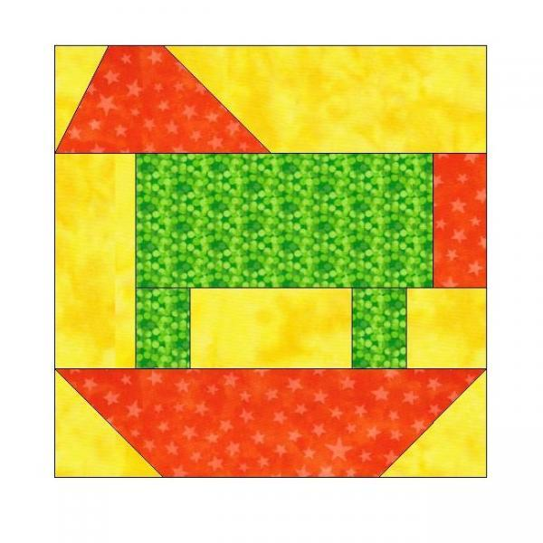 ALL STITCHES - ROCKING HORSE PIECING QUILT BLOCK PATTERN .PDF -106A