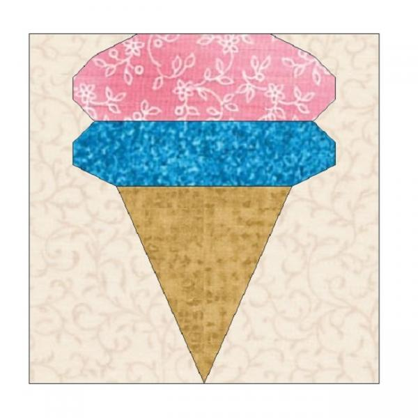 All stitches ice cream cone paper piecing by allstitches on zibbet all stitches ice cream cone paper piecing quilt block pattern pdf 111a ccuart Choice Image
