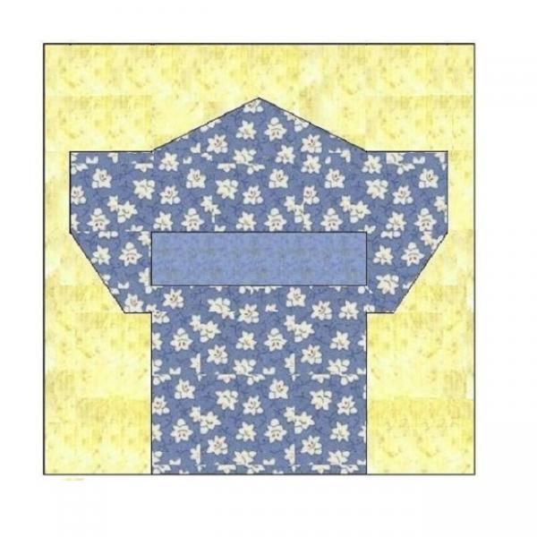 ALL STITCHES - KIMONO PAPER PIECING QUILT BLOCK PATTERN .PDF -055A