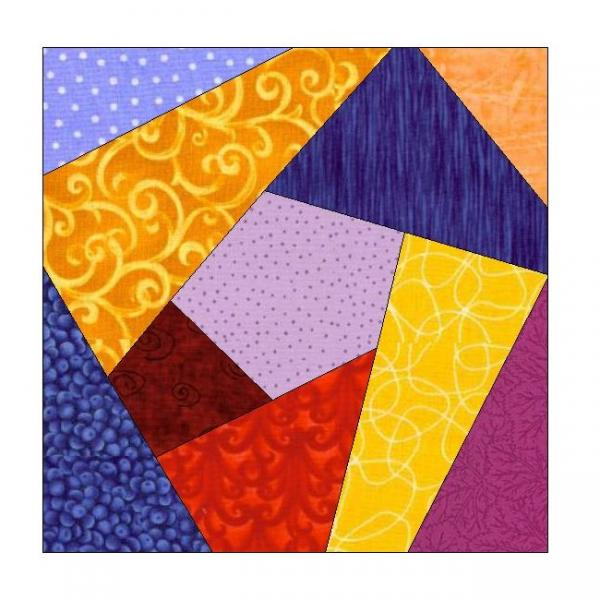 image about Free Printable Paper Piecing Patterns for Quilting known as ALL STITCHES - Mad QUILT PAPER PIECING QUILT BLOCK Behavior .PDF-077A