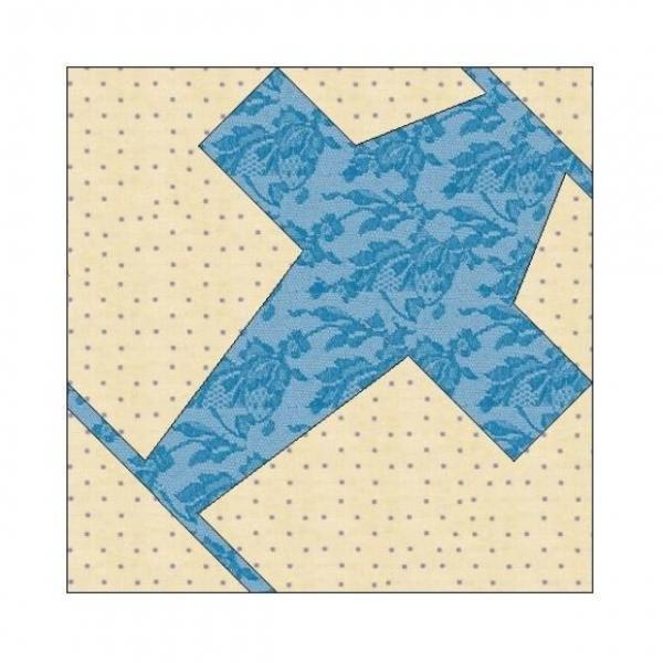 ALL STITCHES - PLANE PAPER PIECING QUILT BLOCK PATTERN .PDF -013A