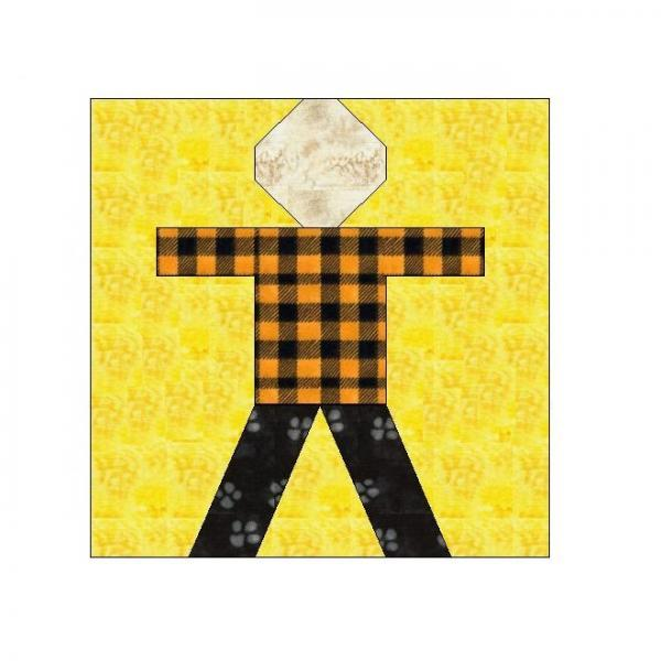 ALL STITCHES - BOY PAPER PIECING QUILT BLOCK PATTERN .PDF -003A