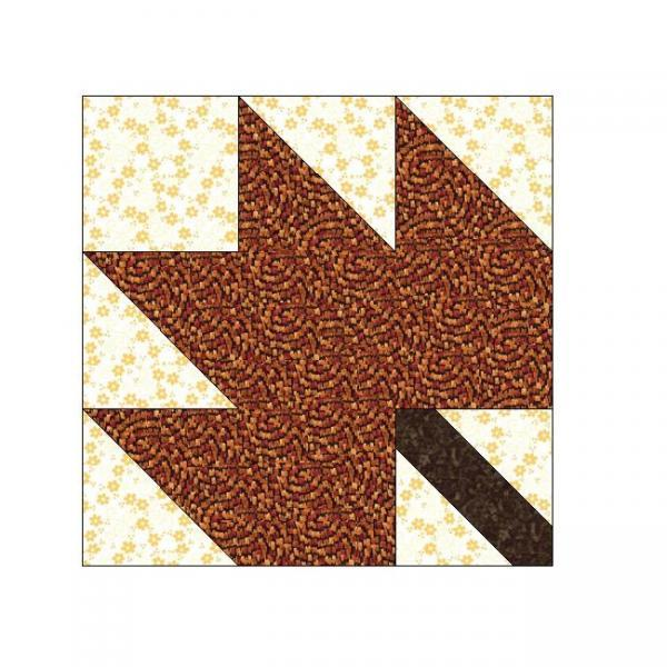 ALL STITCHES - MAPLE LEAF PAPER PIECING QUILT BLOCK PATTERN .PDF -029A
