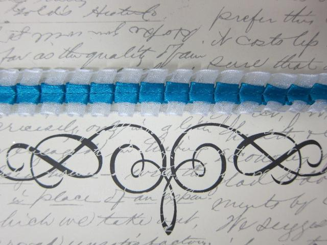 """Ruffled Lace - 5/8"""" Turquoise stl"""