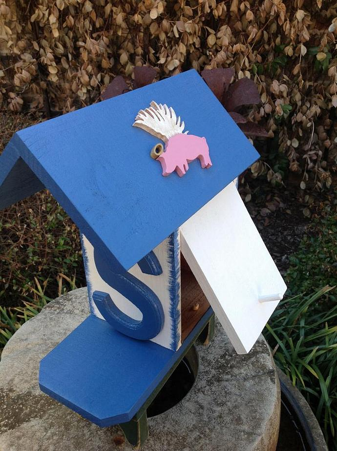 Birdhouse - Flying Pigs by ABCbirdhouses