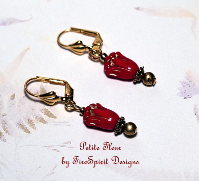 Petite Fleur- handmade artisan earrings