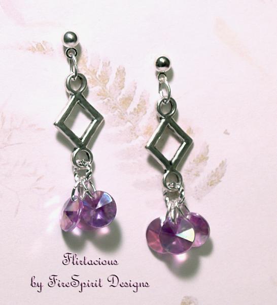 Flirtacious- handmade artisan earrings