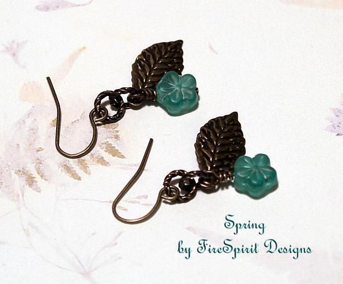Spring- handmade artisan earrings