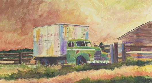 """Los Angeles To Seattle"" Canvas Giclee Print by Carol Thompson"