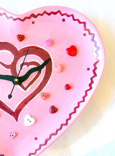 Wavy Heart Ceramic Clock