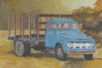 """""""Old Rattler"""" Canvas Giclee Print by Carol Thompson"""