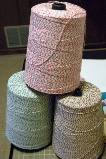 2 - 25 yards 4-ply Bakers Twine
