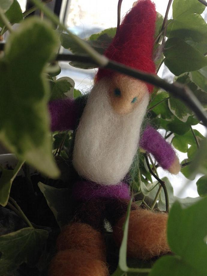 Uncle Henry Needle Felted Sculpture Gnome
