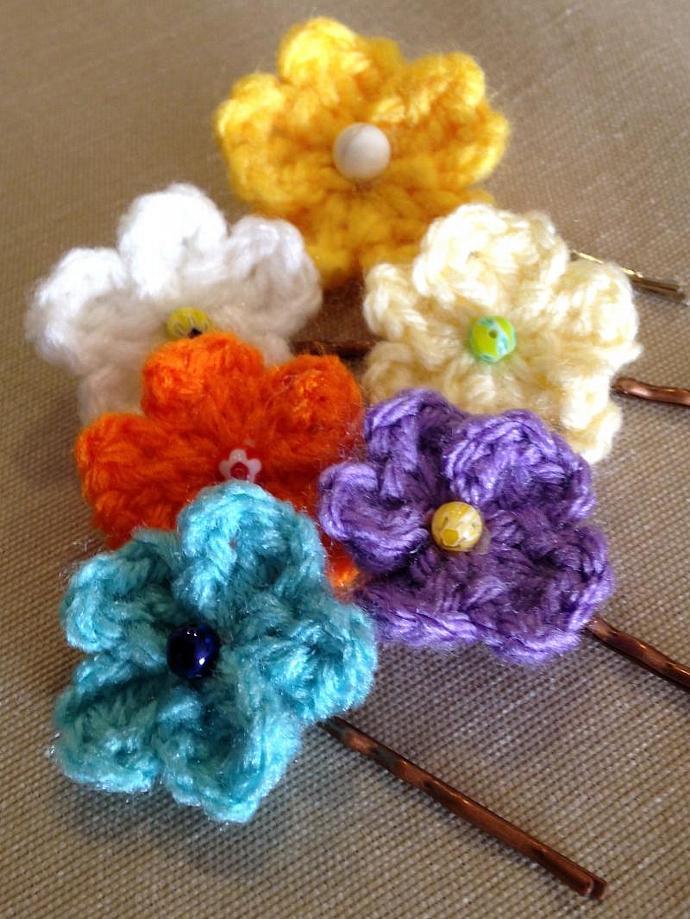 Kawaii Spring Flower Bobby Pins