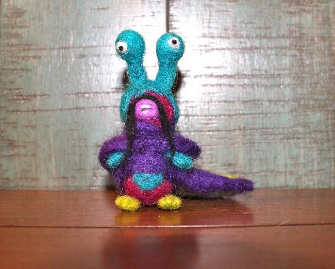 Monster Mong Needle Felted Monster Friend Waldorf-inspired doll