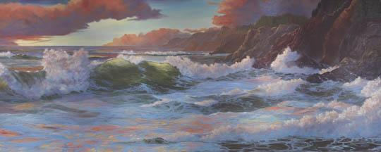 """""""The Best Sunset Ever"""" Canvas Giclee Print by Carol Thompson"""
