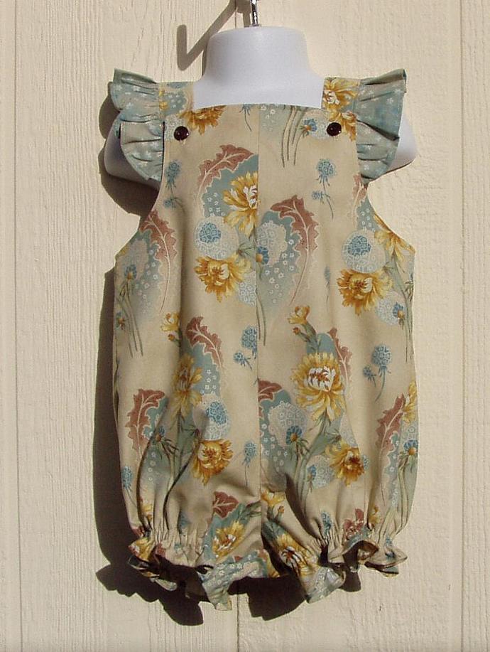 Dandilion Bouquet Toddler Girl's Romper, 2T