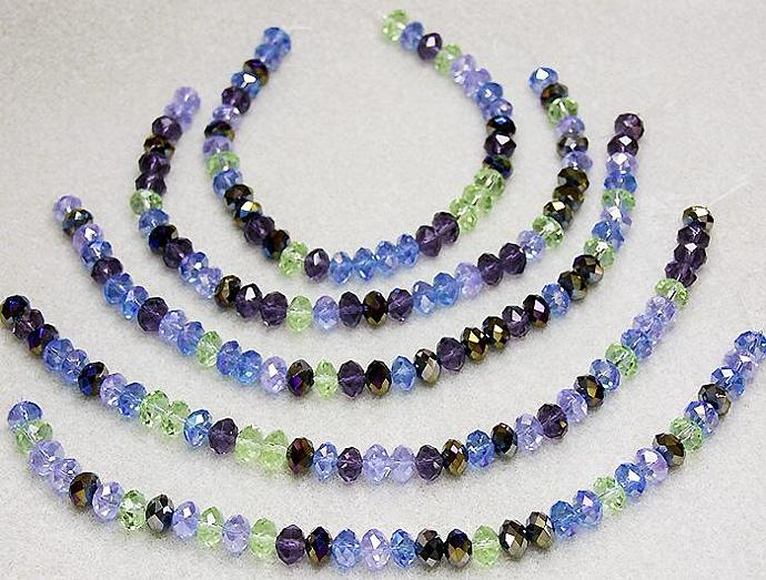Irish Jig- faceted crystal rondelles