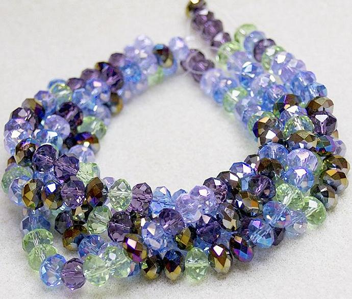 Irish Jig- faceted crystal rondelles